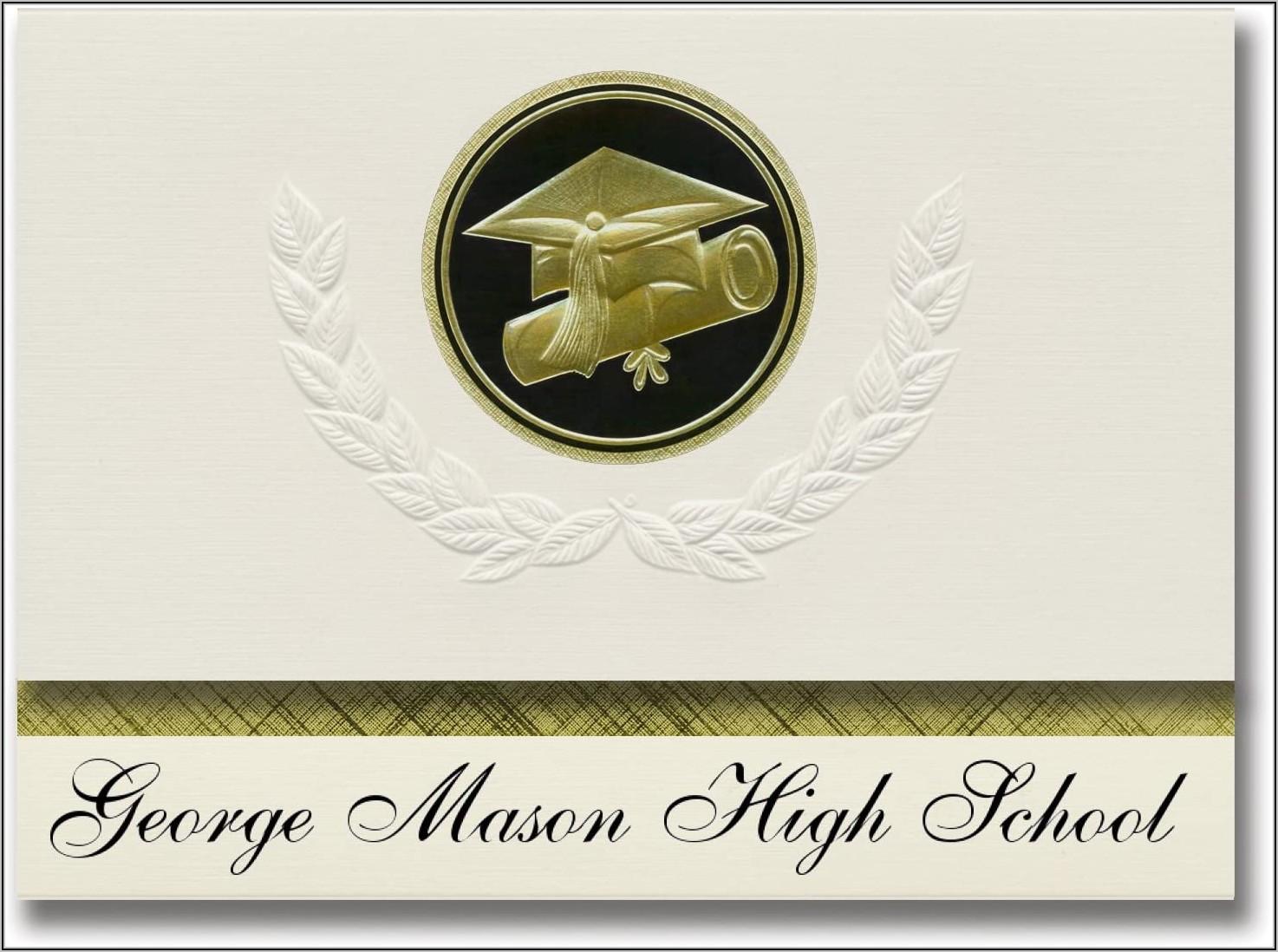 George Mason Graduation Announcements