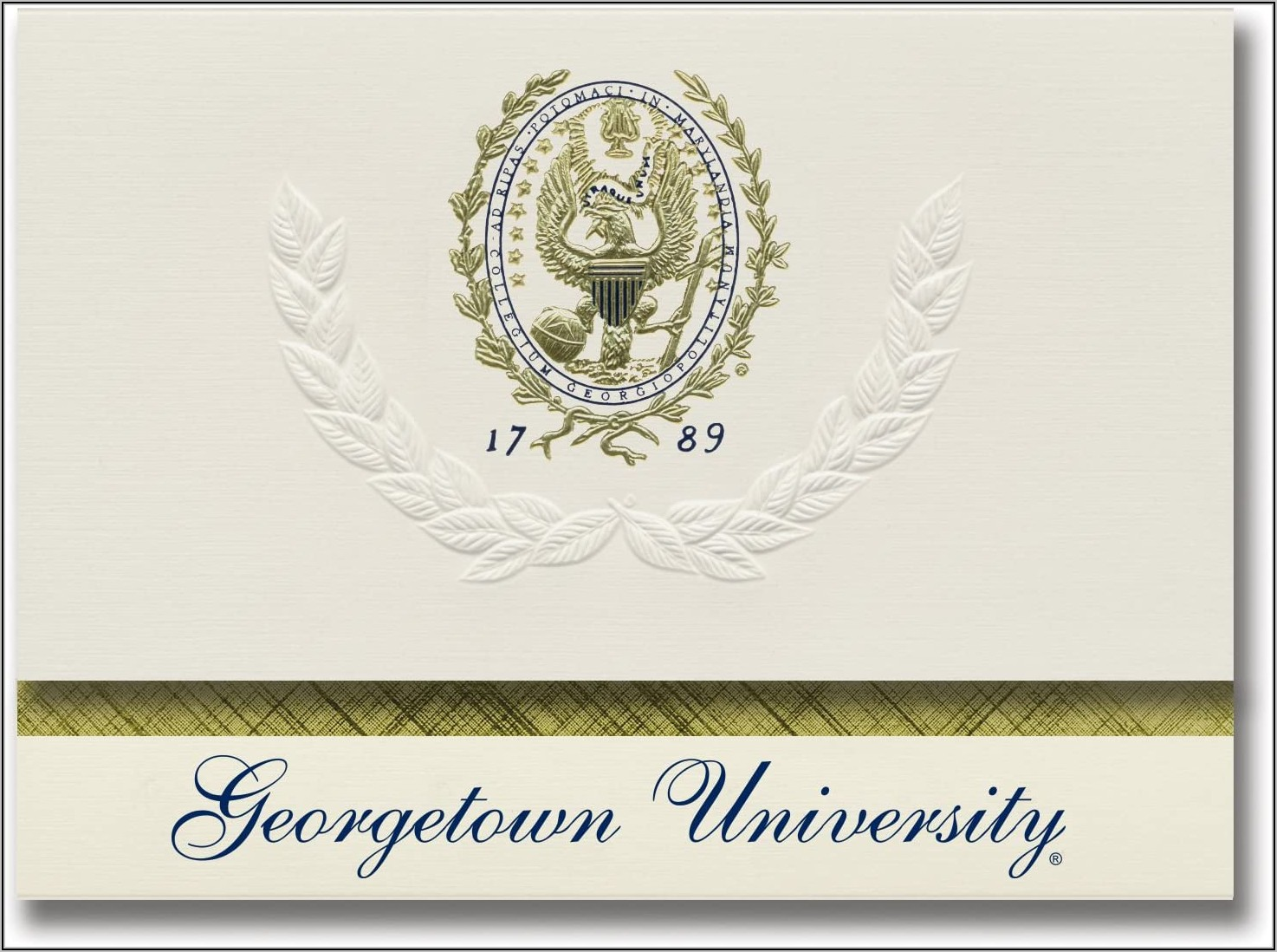 Georgetown University Graduation Announcements