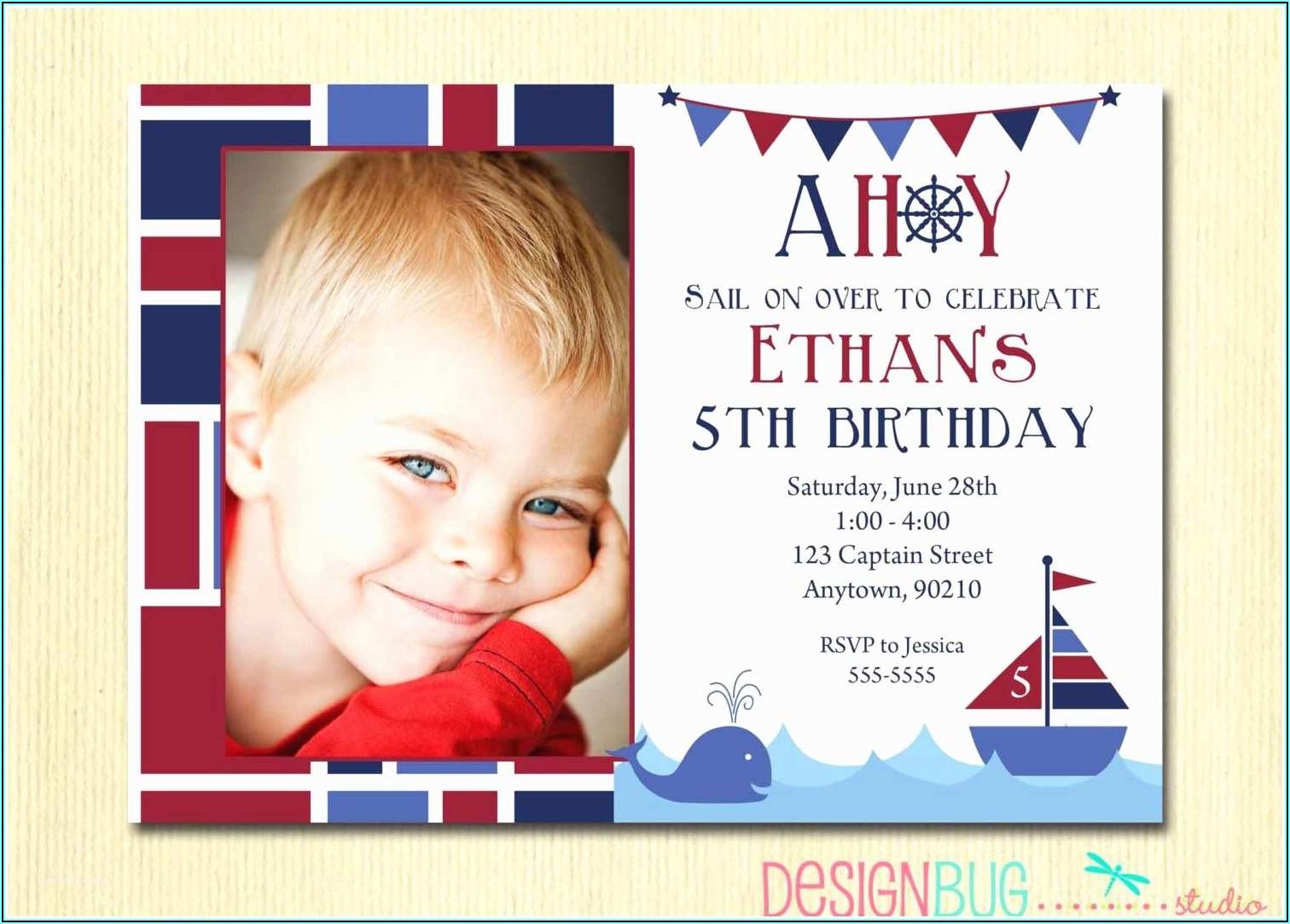 Girl 5th Birthday Invitation Message