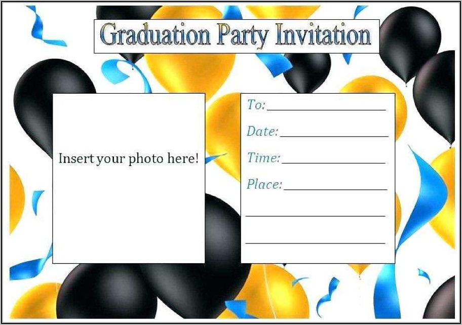 Graduation Announcement Name Card Inserts