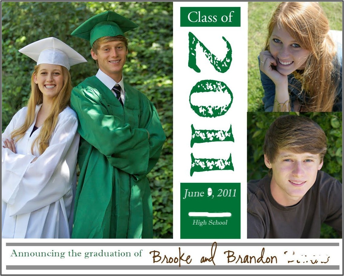 Graduation Announcements For Siblings