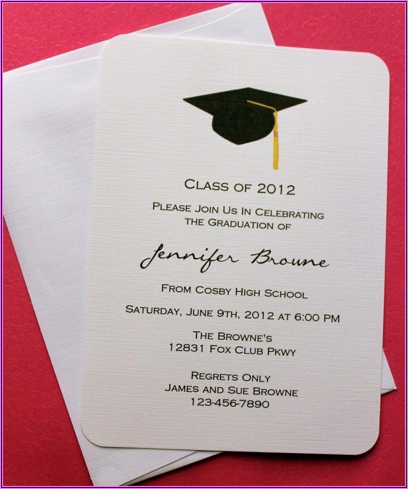 Graduation Invitation Card Samples