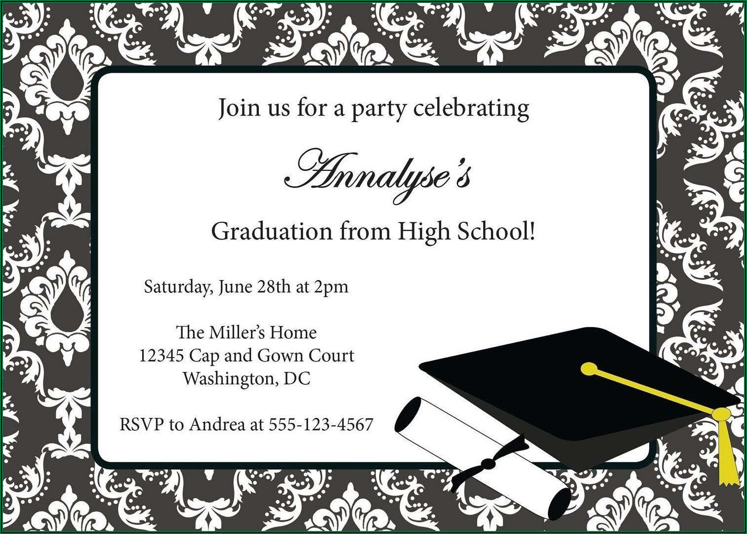 Graduation Invitations Download Free