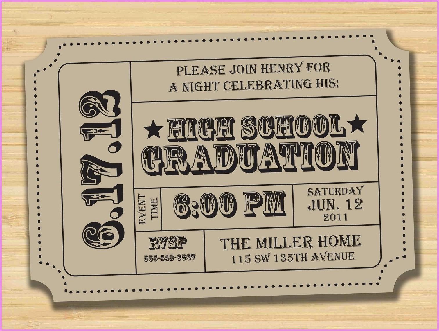 Graduation Party Invitation Card Ideas