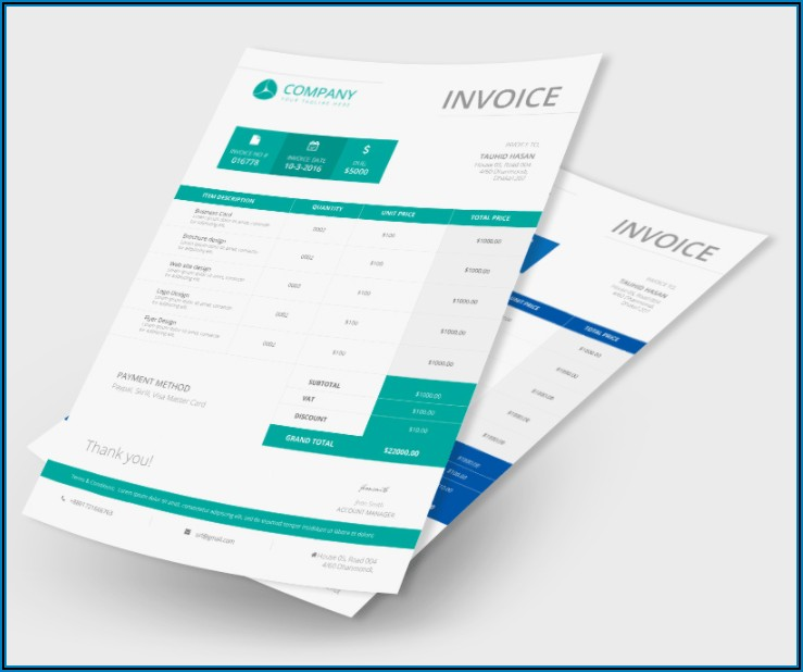 Graphic Design Invoice Template Indesign