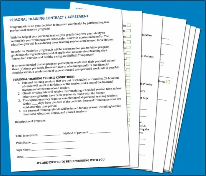 Group Fitness Waiver Template Australia