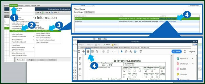 How To Prepare W2 Forms In Quickbooks
