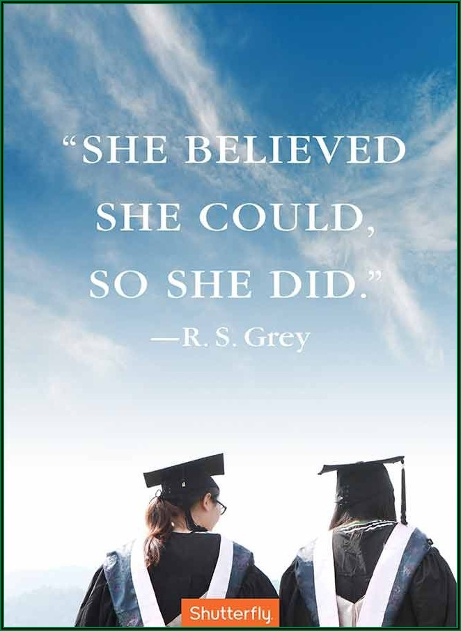 Inspirational Quotes For Graduation Announcements