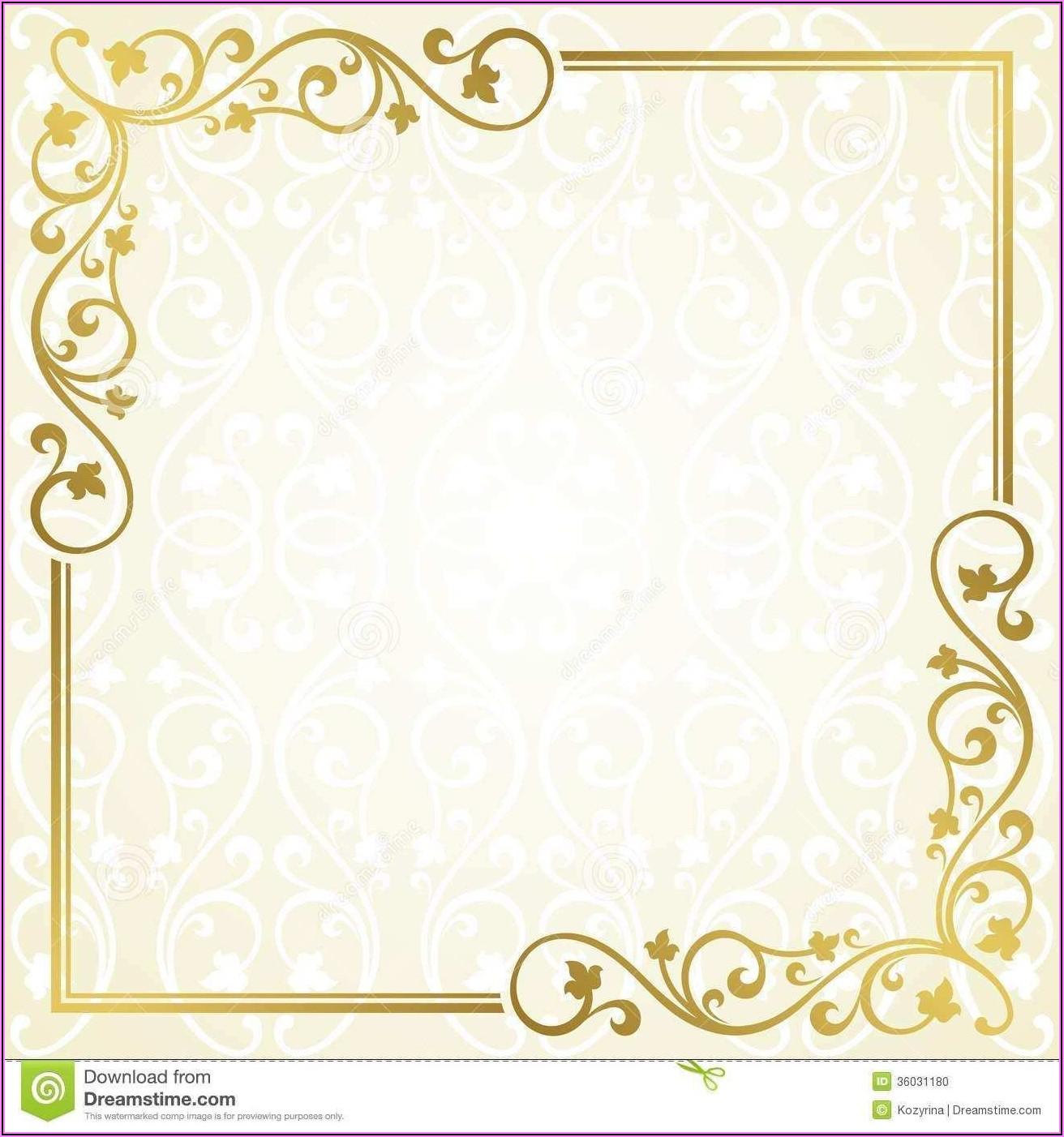Invitation Card Blank Design Template