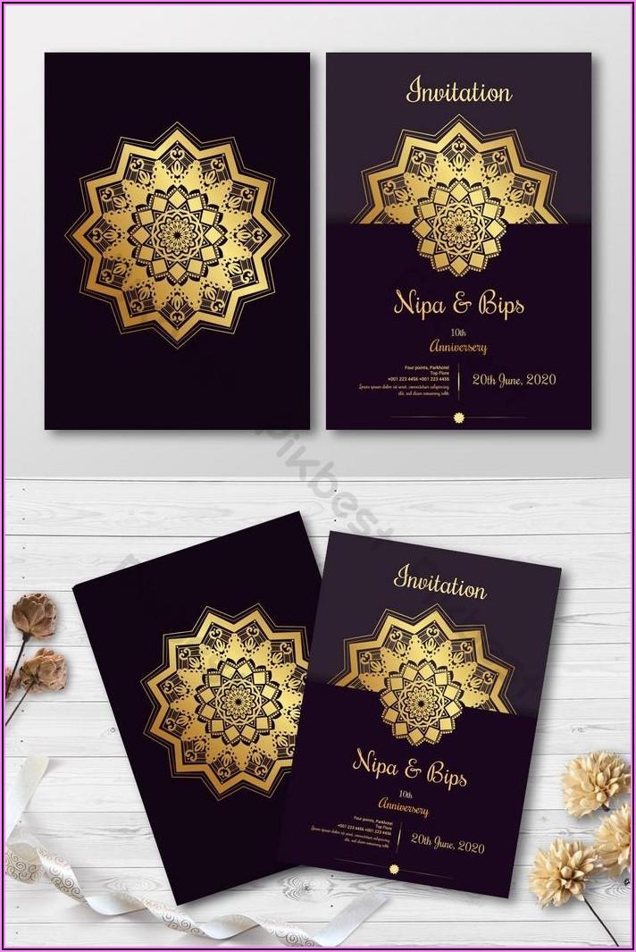 Invitation Card Design Template Free