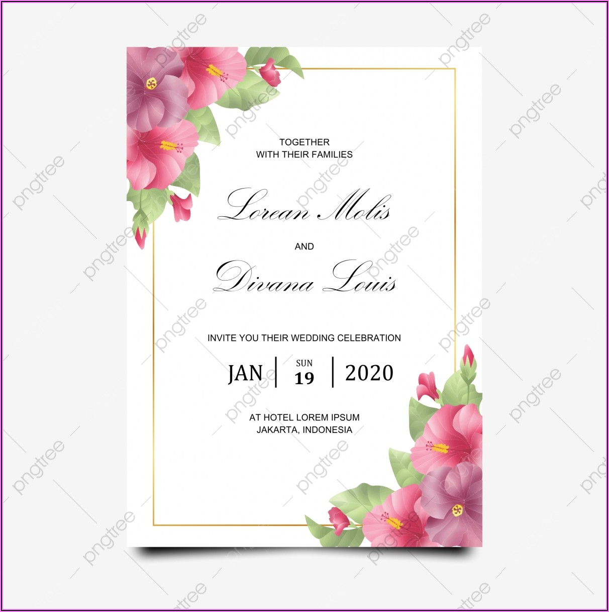 Invitation Card Template Png