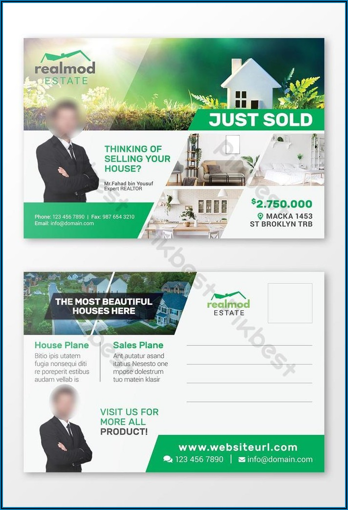 Just Listed Postcard Templates Free