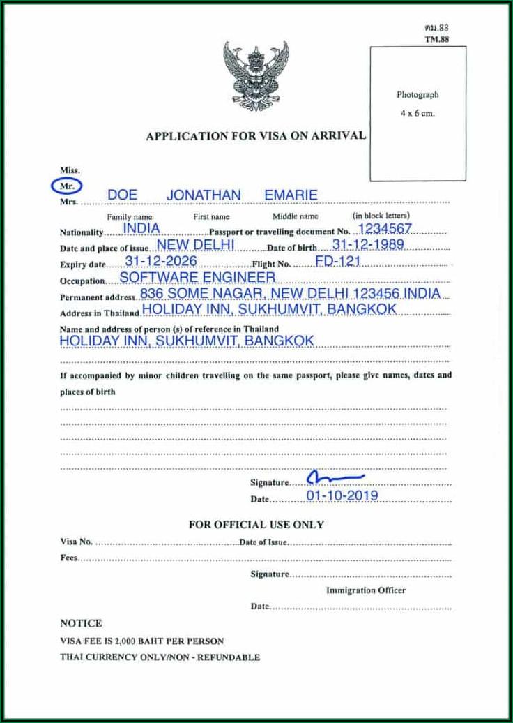 Kenya Visa On Arrival Form Pdf