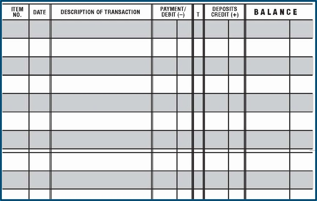 Large Print Check Register Template