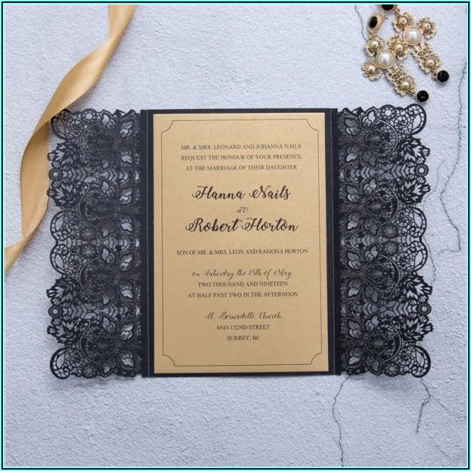Laser Cut Lace Wedding Invitations
