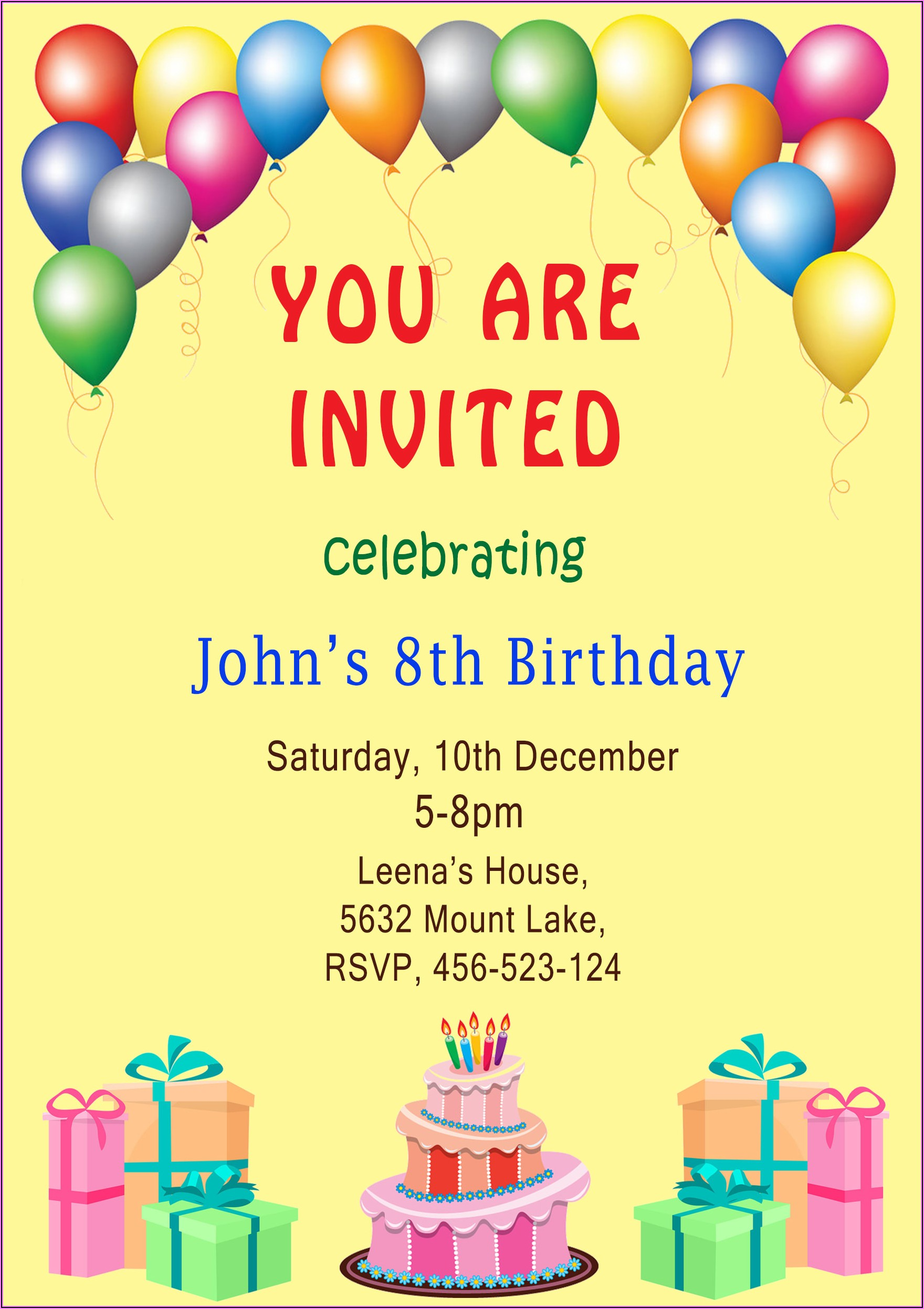 Make Birthday Invitations With Pictures