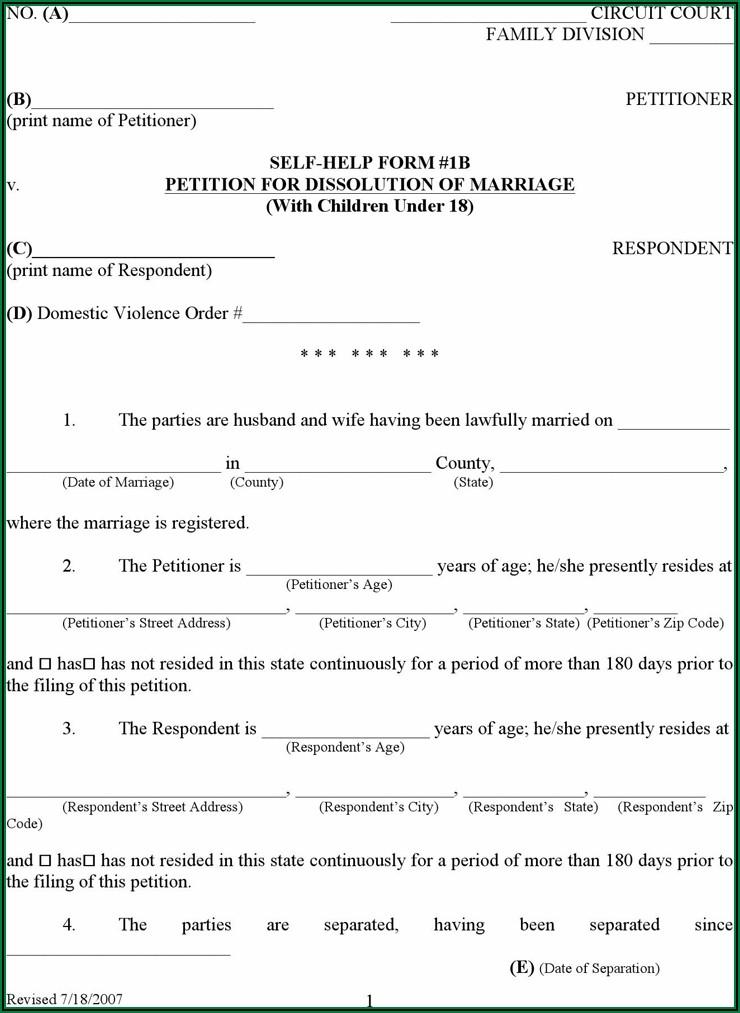 Massachusetts Divorce Forms Pdf