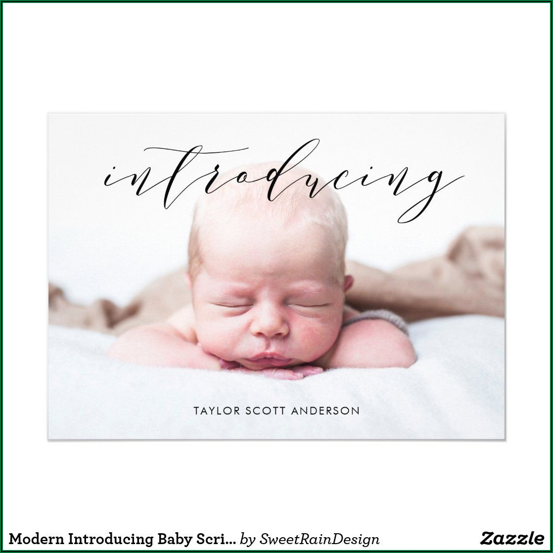 Modern Baby Announcement Cards