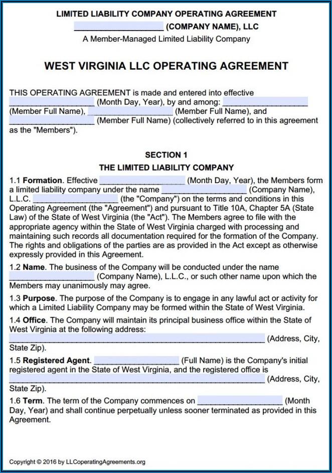 Multi Member Llc Operating Agreement Virginia Template