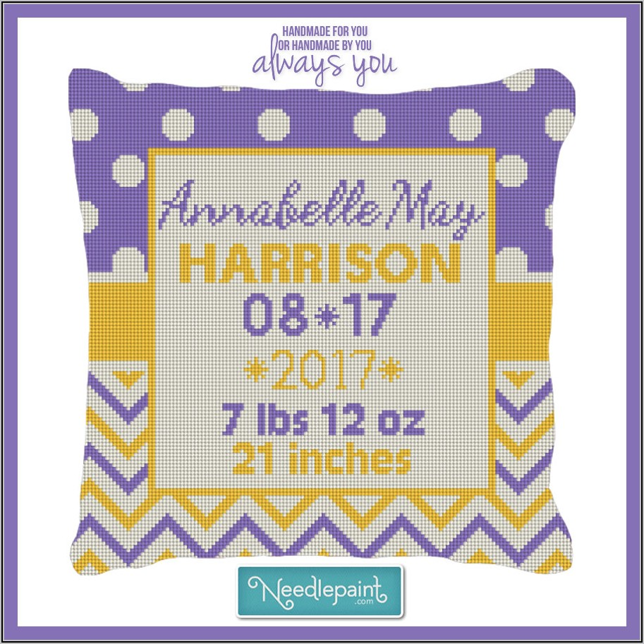 Needlepoint Birth Announcement Kits