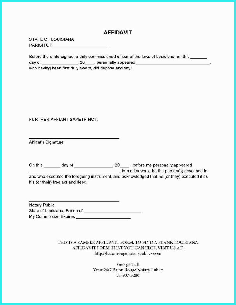 Notary Public Acknowledgement Form Texas