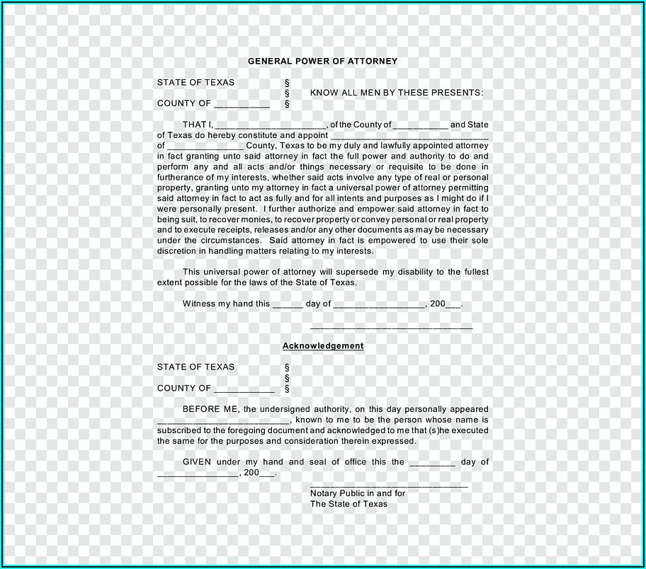 Notary Public Template Texas