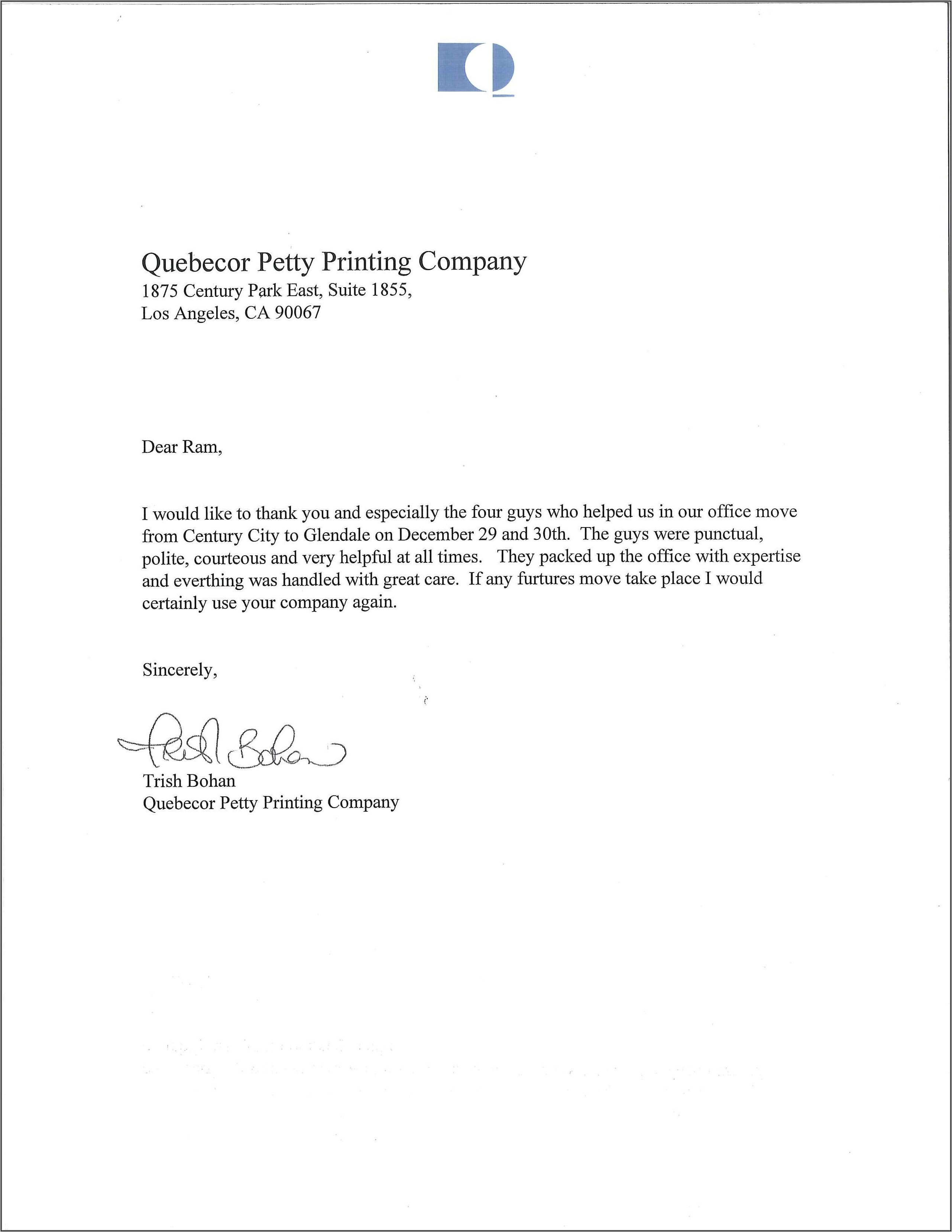 Office Moving Announcement Wording To Employees Template