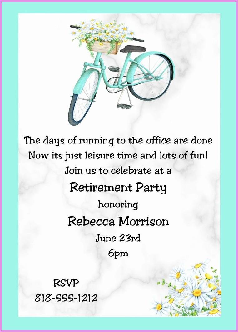 Office Retirement Invitation Wording