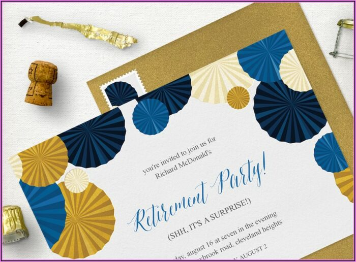 Office Retirement Party Invitation Wording