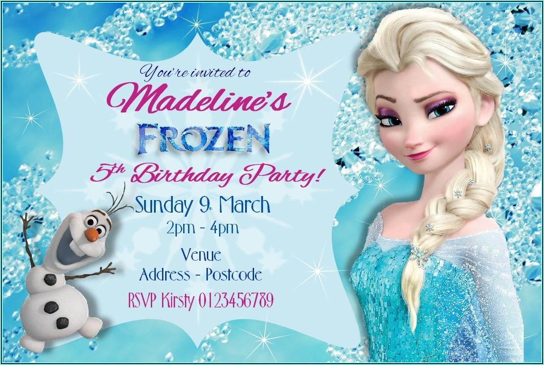 Personalised Frozen Birthday Invitations