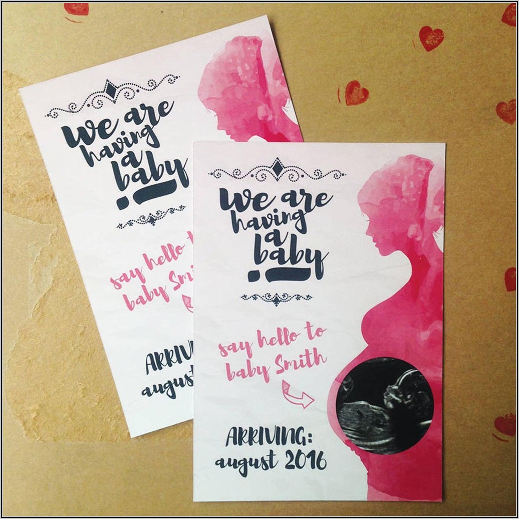 Personalised Pregnancy Announcement Cards