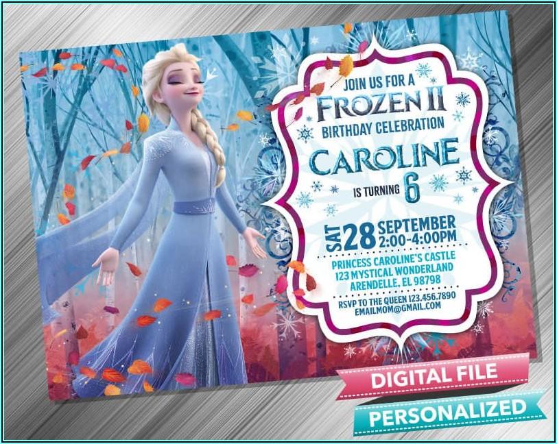 Personalized Frozen 2 Birthday Invitations