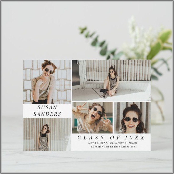 Personalized Photo Graduation Announcements