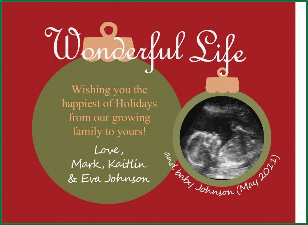 Pregnancy Announcement Cards With Ultrasound