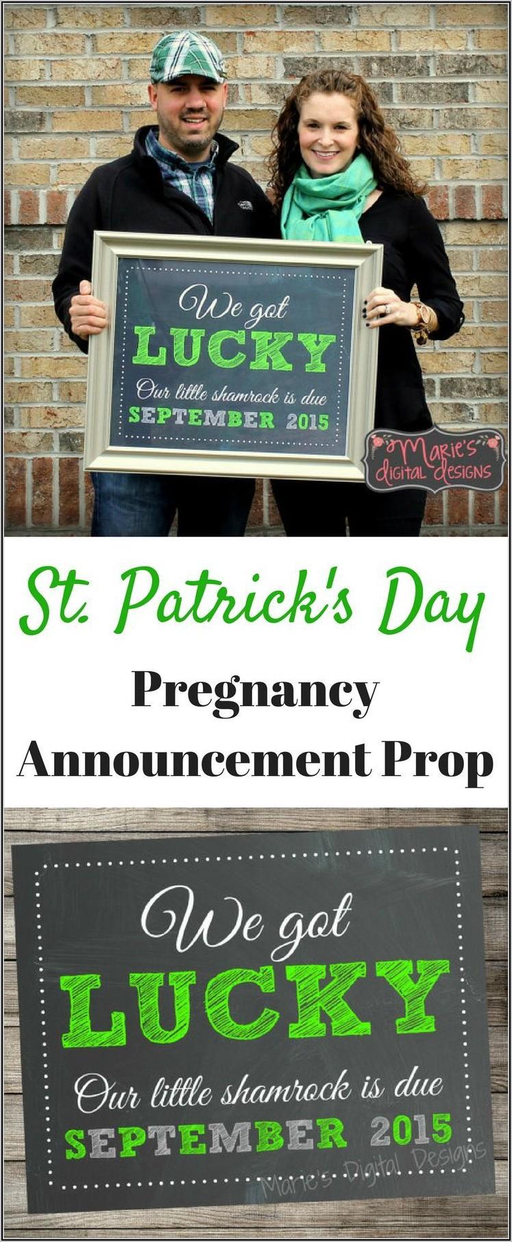 Pregnancy Announcement Chalkboard Template