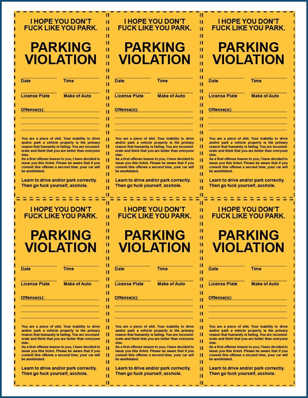 Pretend Police Ticket Template