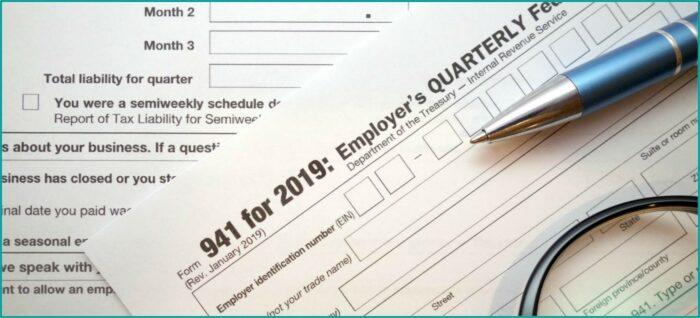 Printable 941 Tax Form For 2019