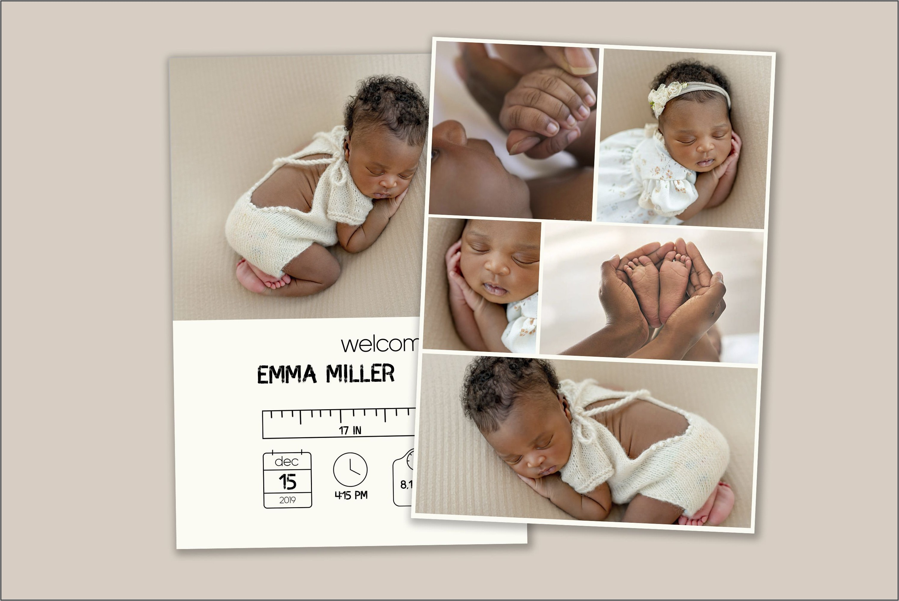 Printable Baby Announcement Templates