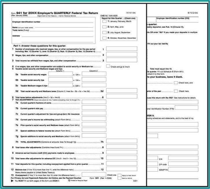 Printable Ccc 941 Form