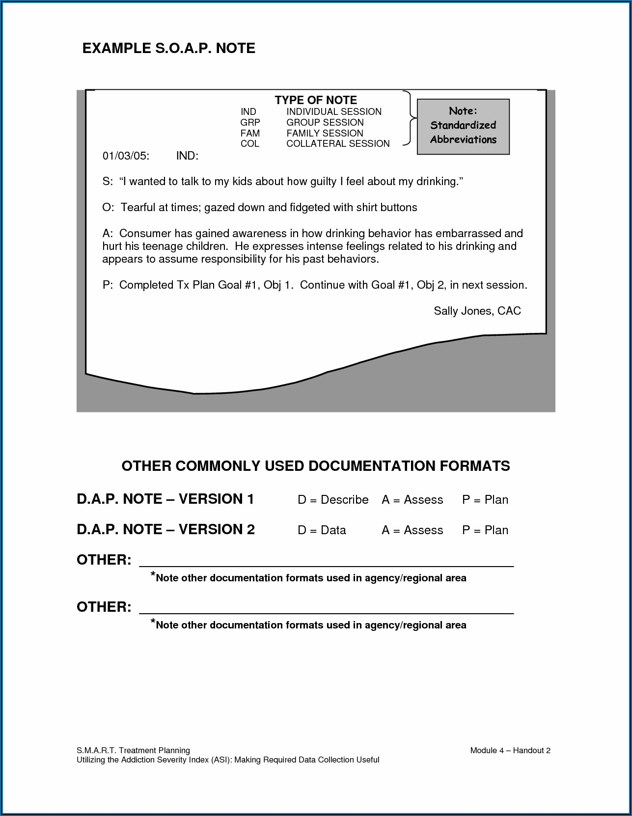 Progress Notes Template Counseling