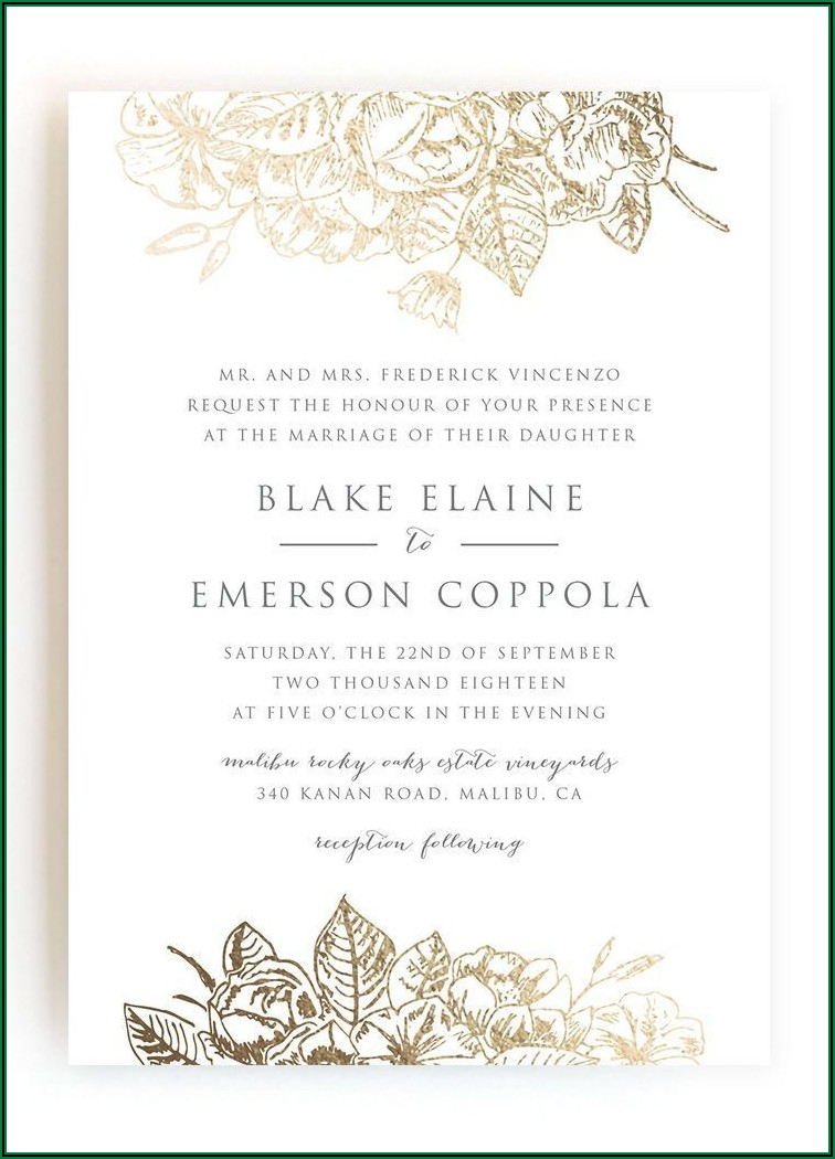 Proper Formal Wedding Invitation Wording