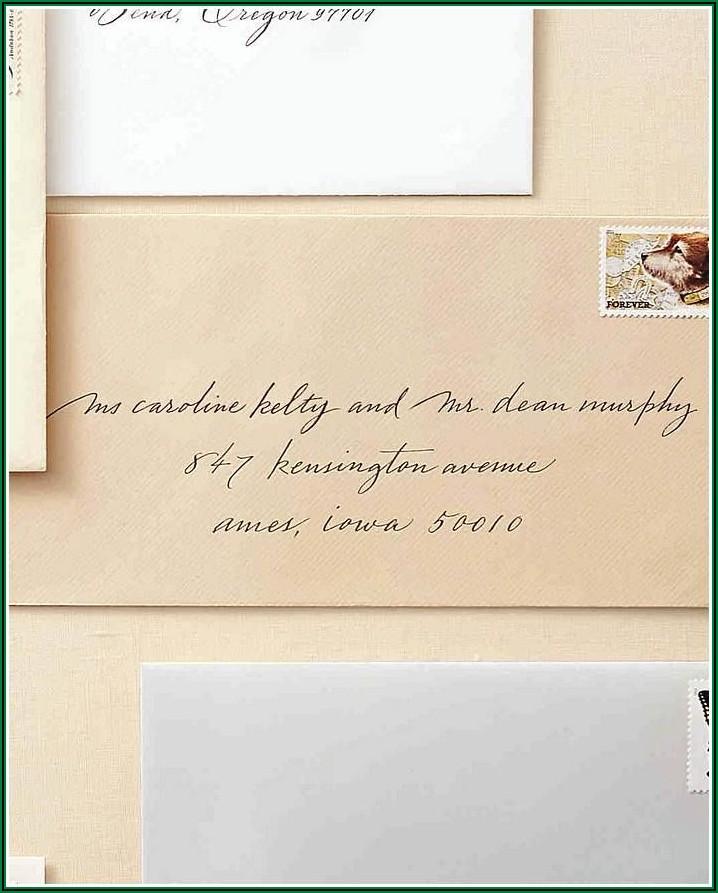 Proper Wedding Invitation Envelope Wording
