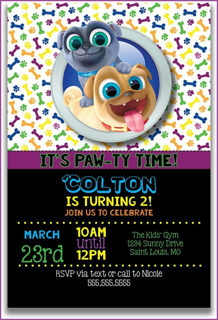 Puppy Dog Pals Birthday Party Invitations