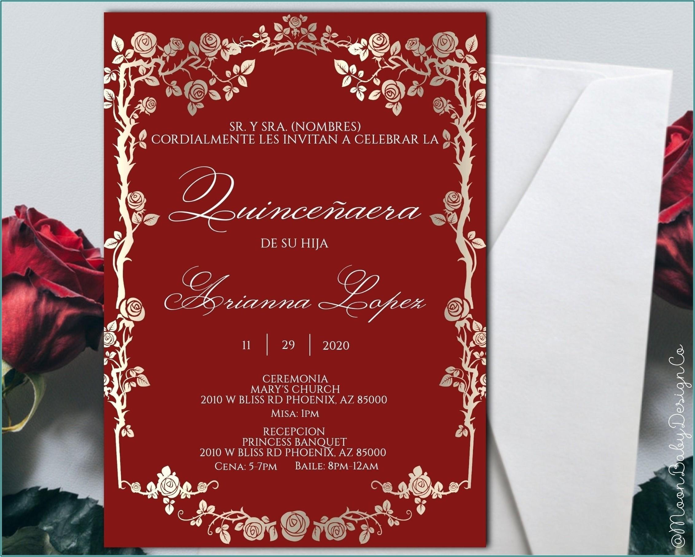 Quinceanera Invitation Wording Samples In Spanish