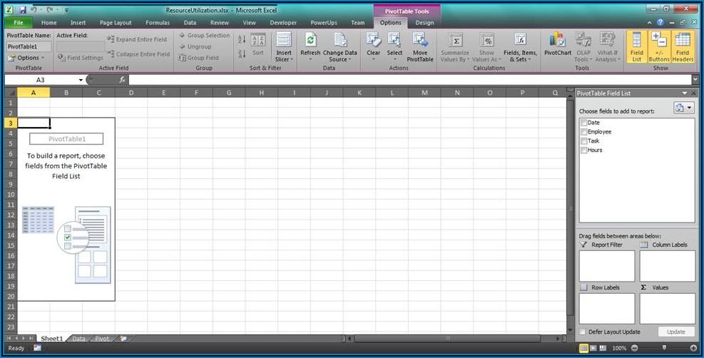 Resource Utilization Template Excel Free
