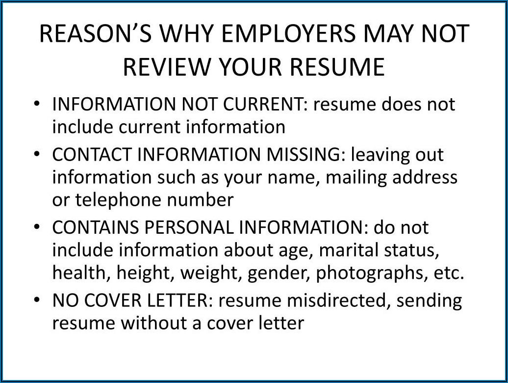 Resume Format Ppt Free Download