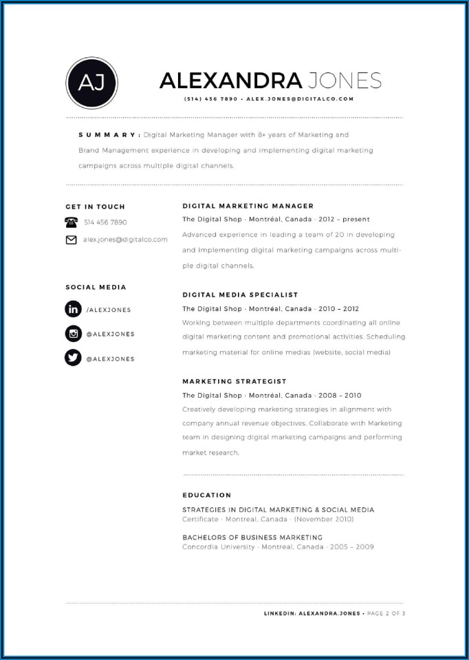 Resume Templates Doc Free Download