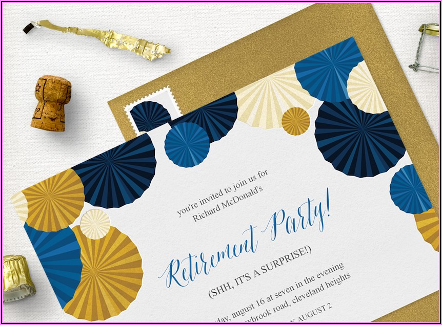 Retirement Invitation Wording For Coworker Template
