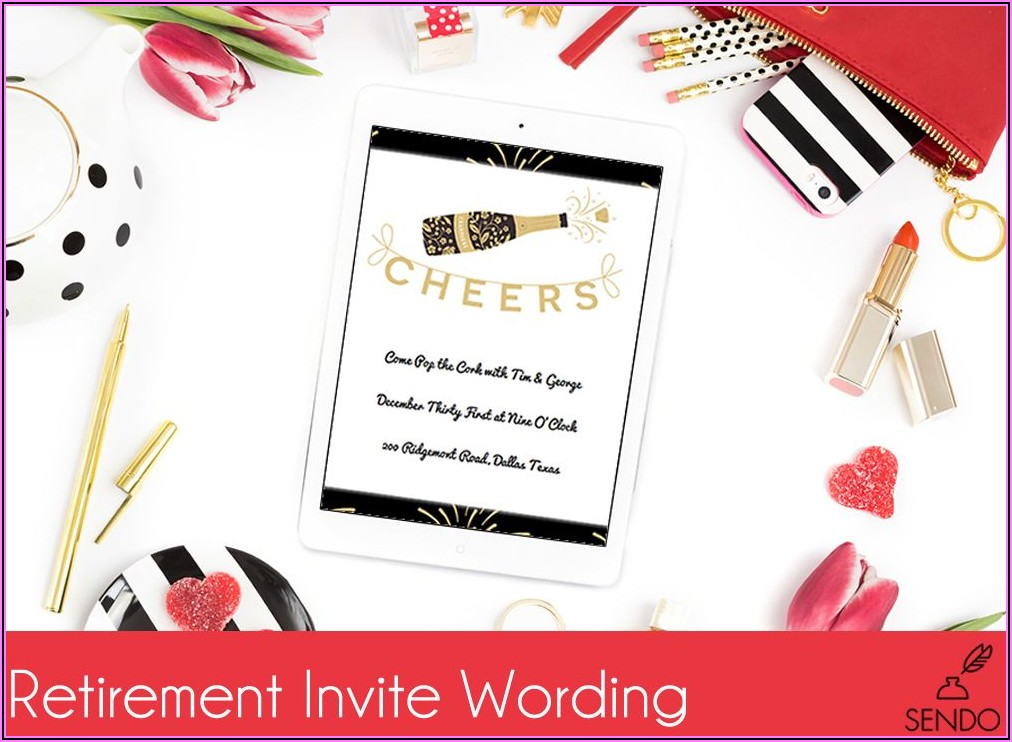 Retirement Party Invitation Wording Examples