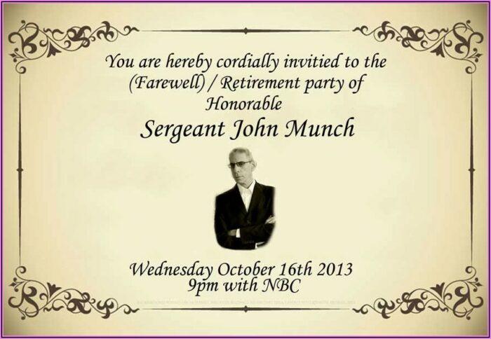 Retirement Party Invitation Wording Samples